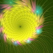 Fractal illustration of bright summer sunflowers graphically — Stock Photo #77434494