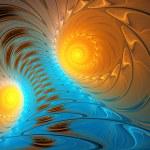 Illustration background fractal bright blue tornado sunlit — Stock Photo #77891910
