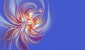 Illustration background l flower with copy space — Stock Photo