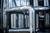Stainless steel tube plant — Stock Photo