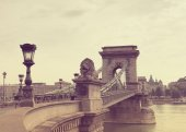 Secheni Bridge in Budapest — Stock Photo