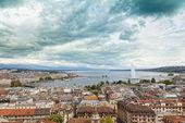 Geneva aerial viewpoint — Stock Photo