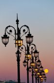 Decorative streetlights — Stock Photo