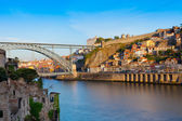 Bridge through River Douro — Stock Photo