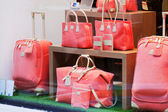 Women's bags in a shop — ストック写真