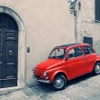 ������, ������: Old red Fiat 500 R