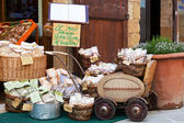 Tuscan souvenirs for tourists — Stock Photo