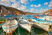 Boats in Balaklava Bay — Stock Photo