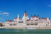 Building of the Hungarian parliament — Zdjęcie stockowe