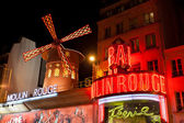 The Moulin Rouge at nigh — Stock Photo