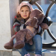 Girl with toy bear — Stock Photo #62252439