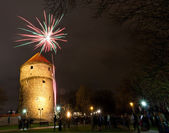 Fireworks in Tallinn — Stock Photo