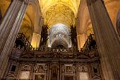 Seville Cathedral interior. — Stockfoto