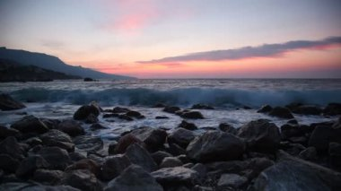 Waves on stones — Stock Video