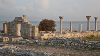 Chersonesos city in crimea — Stockvideo