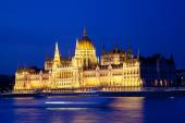 Parlament z Budapeszt nocą — Zdjęcie stockowe