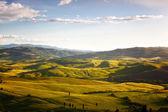Venkovské krajiny v Toskánsku, Itálie — Stock fotografie