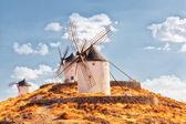 Windmills of municipality of Konsuegra — Stock Photo