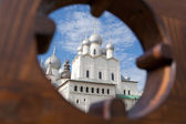 Assumption Cathedral domes, Rostov — Stock Photo