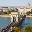 Traffic on Szechenyi Chain Bridge — Stock Photo #67601829