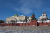 Beautiful view of Kremlin in Moscow — Stock Photo