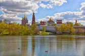 View of Novodevichy Convent in Moscow — Stock Photo