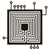Conexión eléctrica para componentes eléctricos — Vector de stock