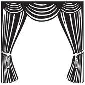 Theater curtain — Stock Vector