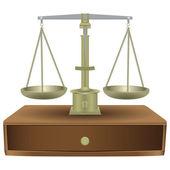 Vintage balance scales — Stock Vector