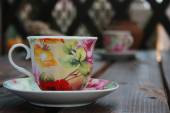 Tea cup on the table — Stockfoto