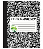 Book gardener — Vector de stock