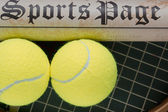 Symbolic sports page — Stock Photo