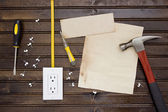 Set to install the electrical outlet — Stock Photo