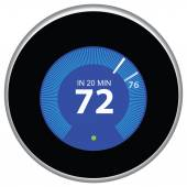 Nest Thermostat Blue — Stockvektor