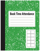Book Time Attendance — Stock Vector