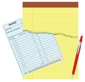 Blank invoice — Stock Vector