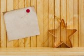 Form dough into a Christmas star — Stock Photo