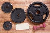 Set of barbells — Stock Photo