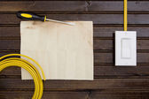 Cable with switch — Stock Photo