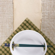 Chopsticks and plate — Stock Photo #59931033