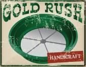 Card Gold Rush — Stock Vector