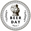 Beer Day Iceland — Stock Vector #61709015