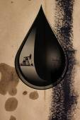 Капля масла — Стоковое фото