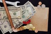 Expenses for repair waterpipe — Stock Photo