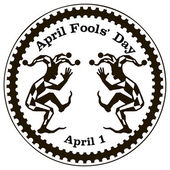 April Fools Day or All Fools Day — Vector de stock