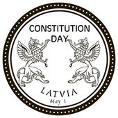 May 1st Constitution Day Latvia — Stock Vector