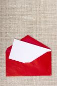 Letter in a red envelope — Stock Photo