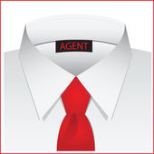 White shirt for the agent — Stock Vector