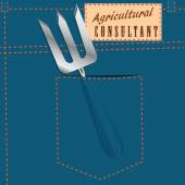 Symbolic jeans pocket Agricultural Consultant — Stock Vector