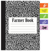 Book farmer — Stock Vector